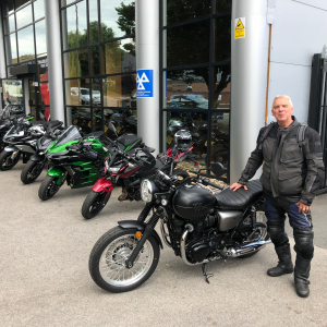 Kevin collecting his W800