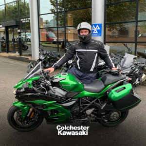 Peter collecting his H2 SX SE Performance Tourer