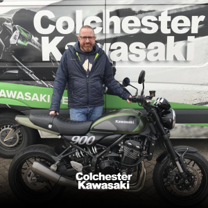Scott Charles Carberry taking delivery of his Z900RS