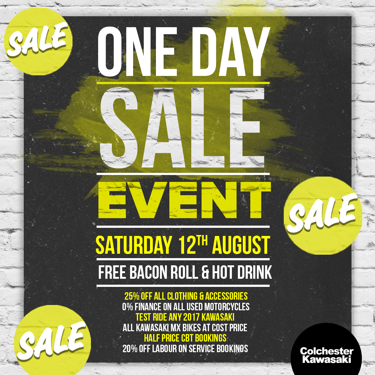 Colchester Kawasaki's Huge In-Store Sale Event