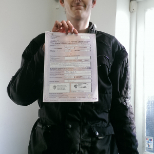 Zach passing his CBT