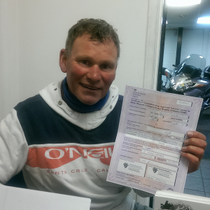 Mick passing his CBT